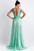 Romina Painted Lace Light Green Baccio Couture Gown