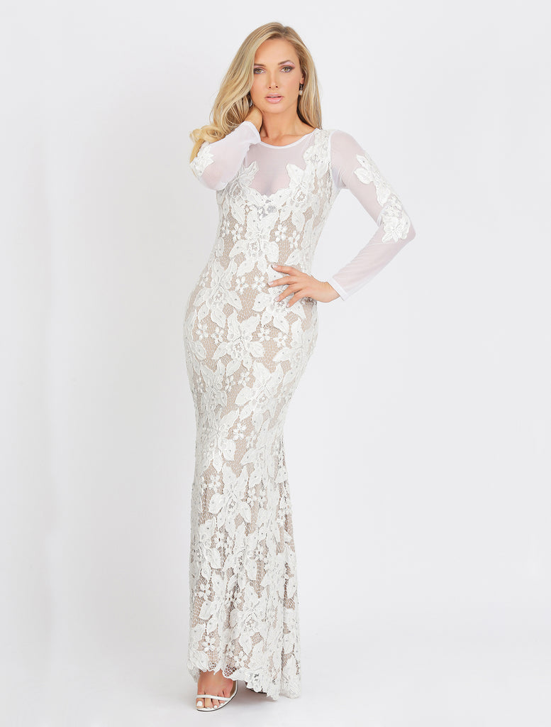 Roselyn Long Caviar Baccio Couture Gown