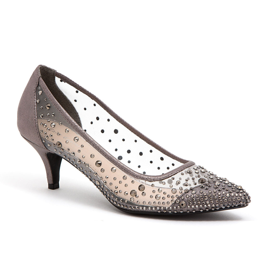 SILK PEWTER LADY COUTURE SHOES
