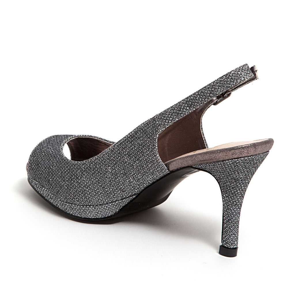 SUE PEWTER LADY COUTURE SHOES