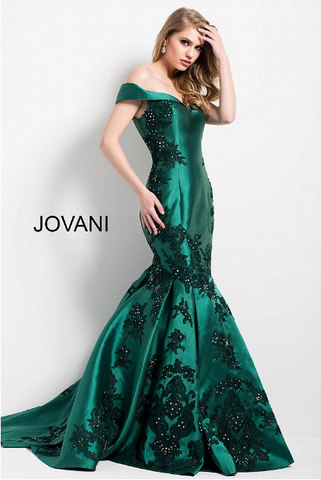 Hunter Embellished Off the Shoulder Mermaid Jovani Gown 55570 a41c5a0d7