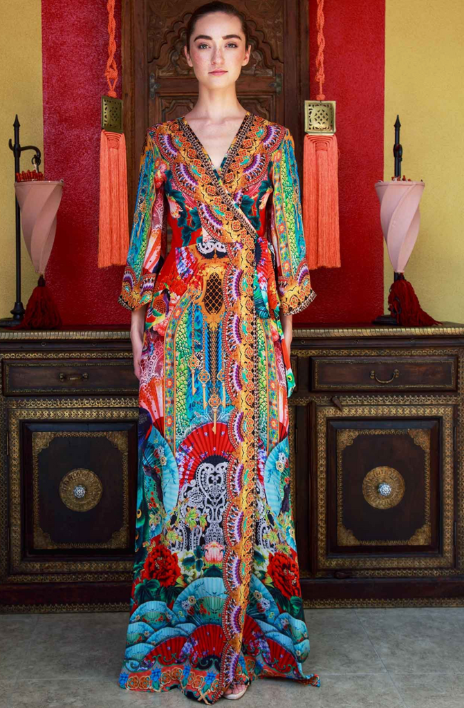 GEISHA CHERRY PICKED SHAHIDA PARIDES DRESS