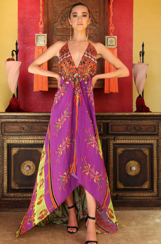 H2H Merlot Shahida Parides Maxi Dress