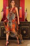 Orange Tribal Shahida Parides 3 Way Dress