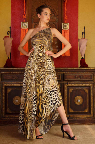Firebird Feather Print Shahida Parides 3 Way Dress