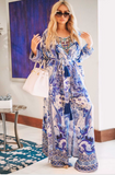 BLUE AND WHITE CHINOISERIE PRINT SHAHIDA PARIDES ROBE