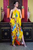 TROPICAL YELLOW SHAHIDA PARIDES KAFTAN
