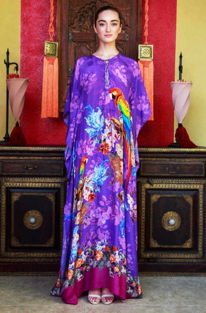 TROPICAL PURPLE SHAHIDA PARIDES KAFTAN