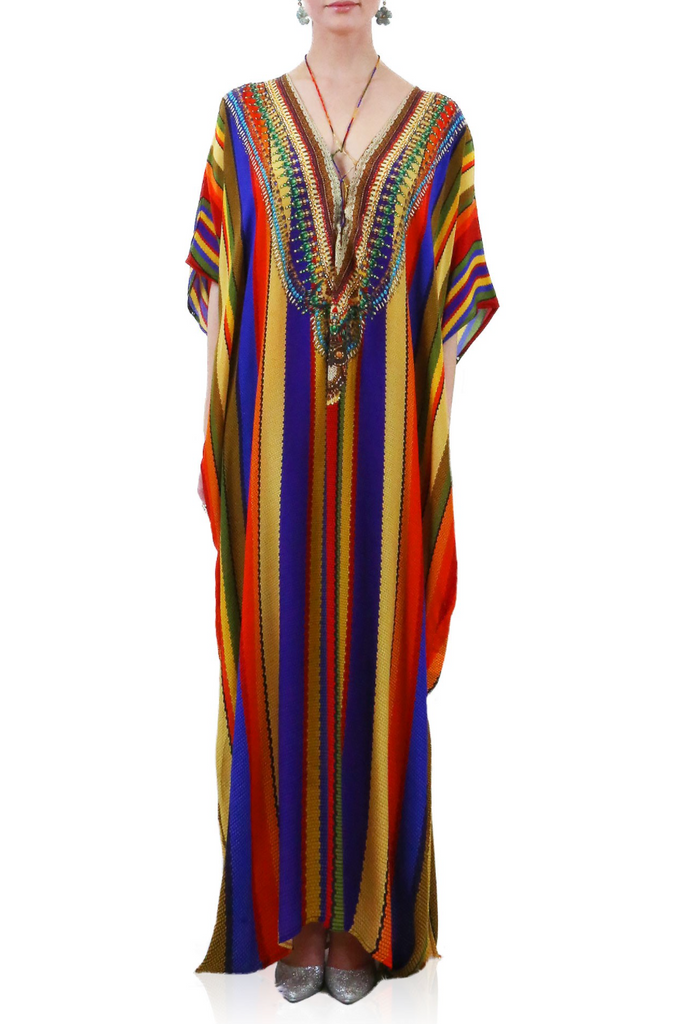 Rainbow Shahida Parides Kaftan Dress