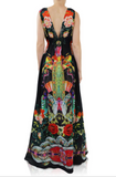 Japanese Black Print Shahida Parides Dress