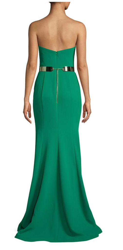 Fitted Emerald Mermaid Nicole Bakti Gown