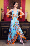 Paradise Bright Orange Shahida Parides 3 Way Dress