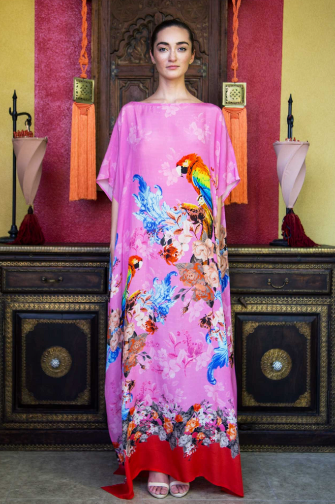 TROPICAL FLAMINGO SHAHIDA PARIDES KAFTAN
