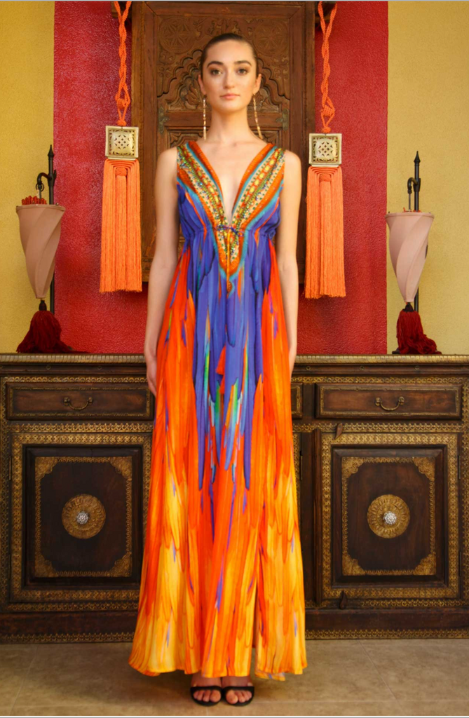 Firebird Sunset Shahida Prides Dress