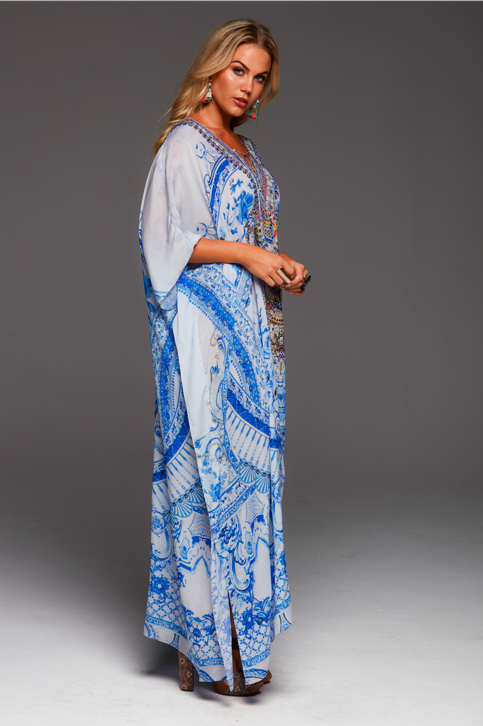 A DAY IN GREECE CZARINA LONG KAFTAN