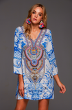 A DAY IN GREECE CZARINA TUNIC DRESS