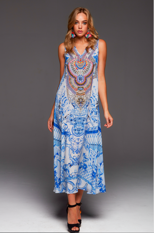 LET YOUR SOUL FLY CZARINA MAXI DRESS