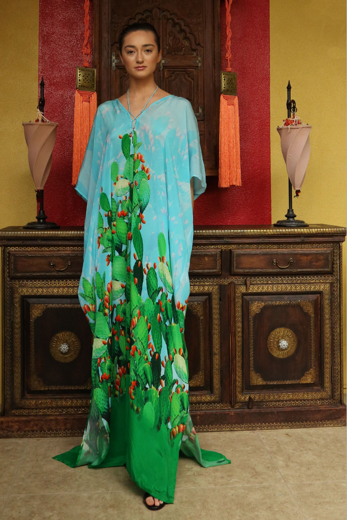 SONORAN DESSERT GREEN ENVY Shahida Parides Kaftan Dress