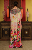 Rosa Flamingo Shahida Parides Kaftan Dress