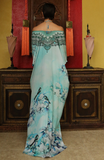 Cherry Blossom Azure Shahida Parides Kaftan Dress