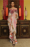 Cherry Blossom Pink Shahida Parides Kaftan Dress