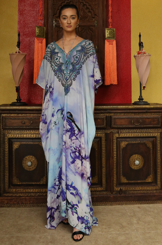 SKY AZURE HI LOW SHAHIDA PARIDES DRESS