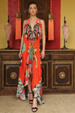 Geisha Orange 3 Way Shahida Parides Dress