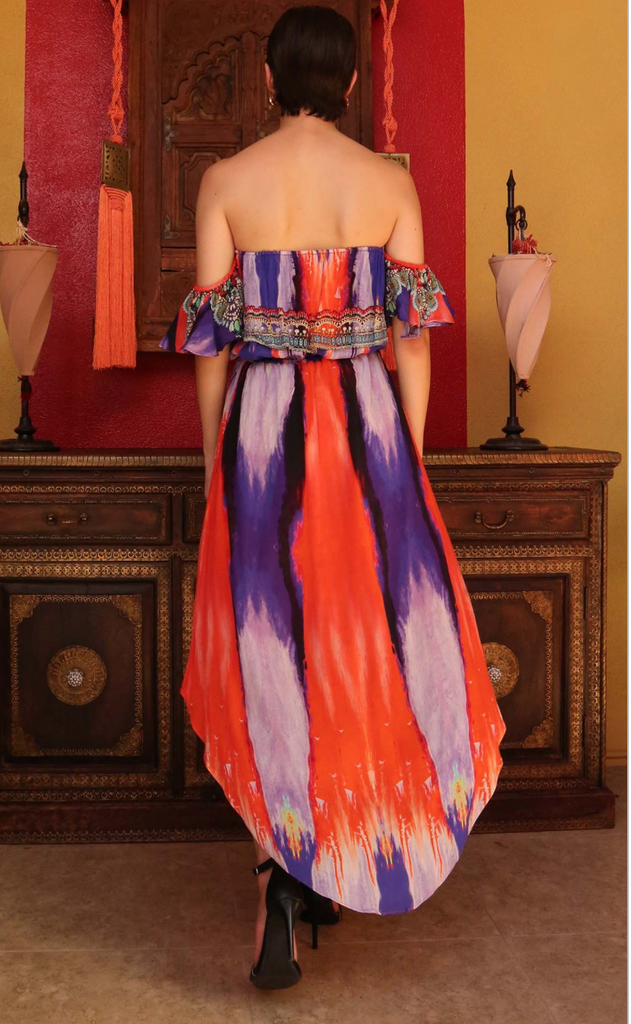 Marfa Cherry Picked Off Shoulder Shahida Parides Dress