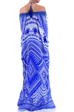 Sky Azure Shahida Parides Kaftan Dress