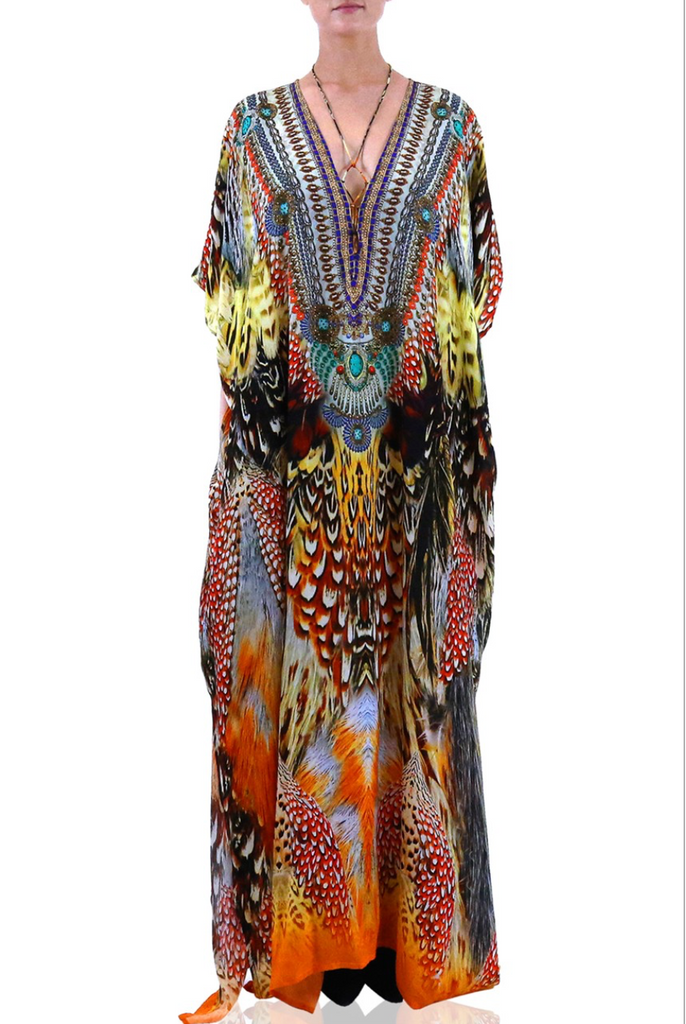 Sunset Shahida Parides Kaftan Dress