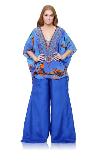 SONORAN DESSERT Purple Rain Shahida Parides Kaftan Dress