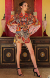 TRIBAL SUNSET SHAHIDA PARIDES BAT WING DRESS