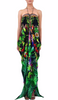 Tropical Caviar Black Shahida Parides Kaftan Dress