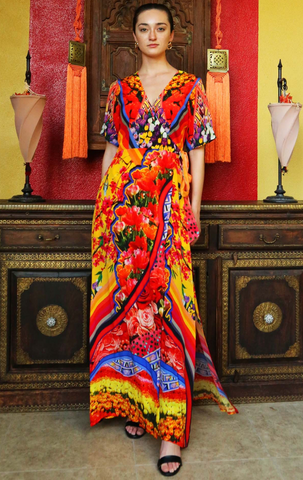 Nirvana Cherry Picked Shahida Parides Kaftan Dress