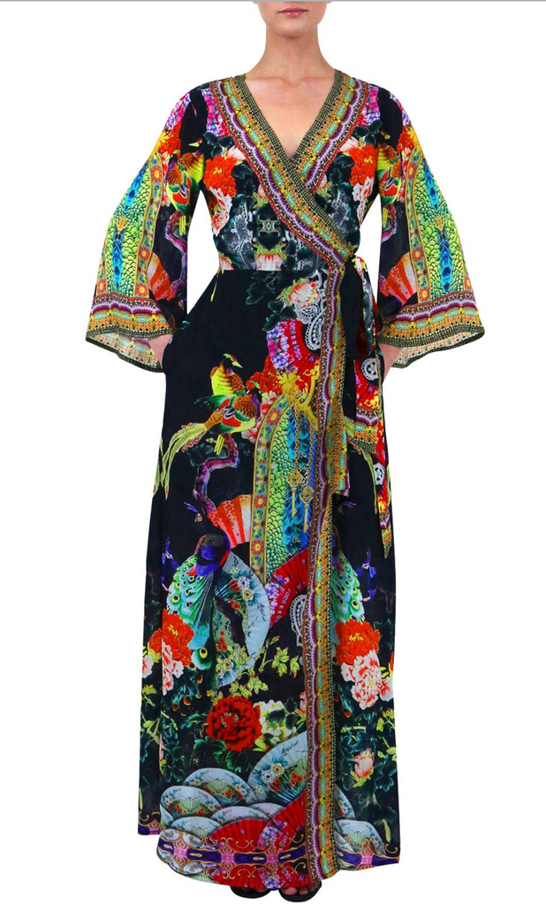 Geisha Caviar Black SHAHIDA PARIDES WRAP DRESS