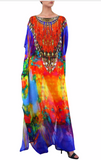 Single Oange Shahida Parides Kaftan Dress