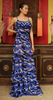Camo Navy Shahida Parides Maxi Dress