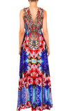 Floral Purple Shahida Parides Maxi Dress
