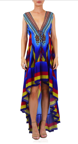 Geisha Purple Rain 3 Way Shahida Parides Dress
