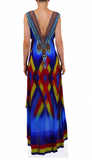 Chevron Shahida Parides Hi Low Dress