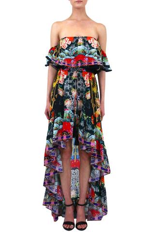 Blue Jay Green 3 Way Shahida Parides Dress