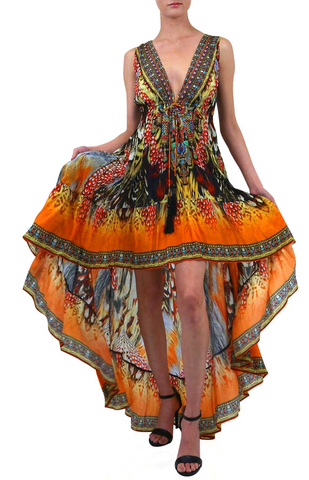SONORAN DESSERT ORANGE Shahida Parides Kaftan Dress