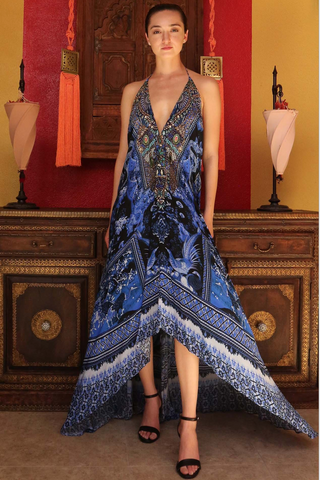 Sky Azure Shahida Parides Maxi Dress