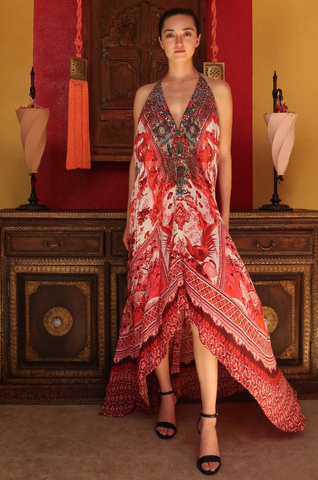 Fox Sunset Hi Low Shahida Parides Dress