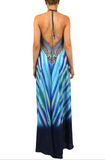 Yulia Blue Stripes 3 Way Shahida Parides Dress