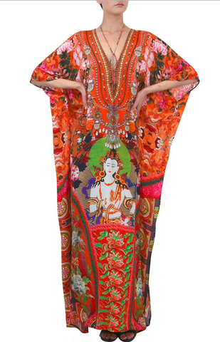 Safari Bright Orange 3 Way Shahida Parides Dress