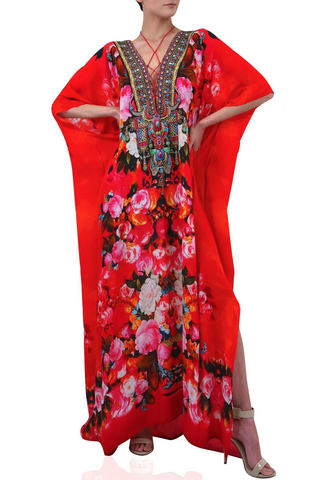Safari Cherry Picked Shahida Parides Hi Low Dress