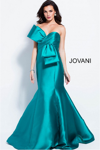 Pleated Skirt Embroidered Sleeveless Jovani Dress 49964
