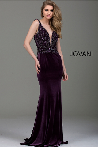 Black Sequin High Neck Sleeveless Jovani Jumpsuit 48273