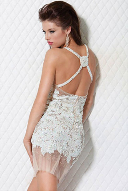 Beaded Fitted Jovani Dress 14338